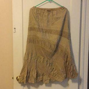 Fei (Anthropologie) linen boho maxi skirt